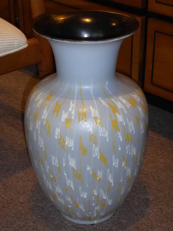 Glazed Large Carstens 1956 Pottery Floor Vase Germany For Sale