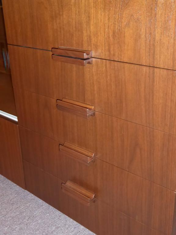 Bespoke 1950s Long Narrow Walnut Credenza by Robert Law Weed For Sale 5