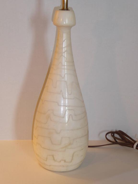 1950s Italian Modern Marble Teardrop Table Lamp for Raymor For Sale 3