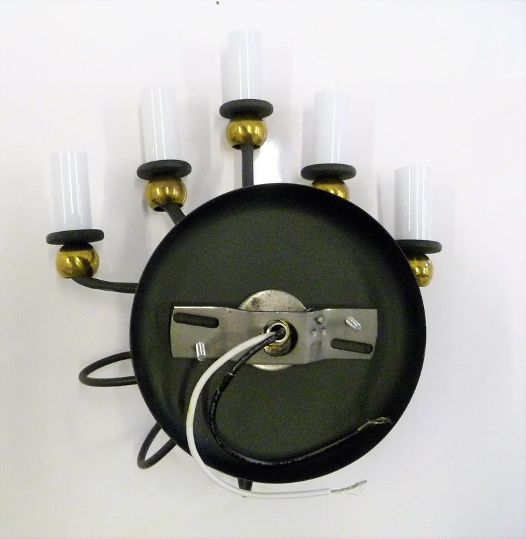 1950s Jean Royere Style Italian Five-Light Sconce For Sale 3