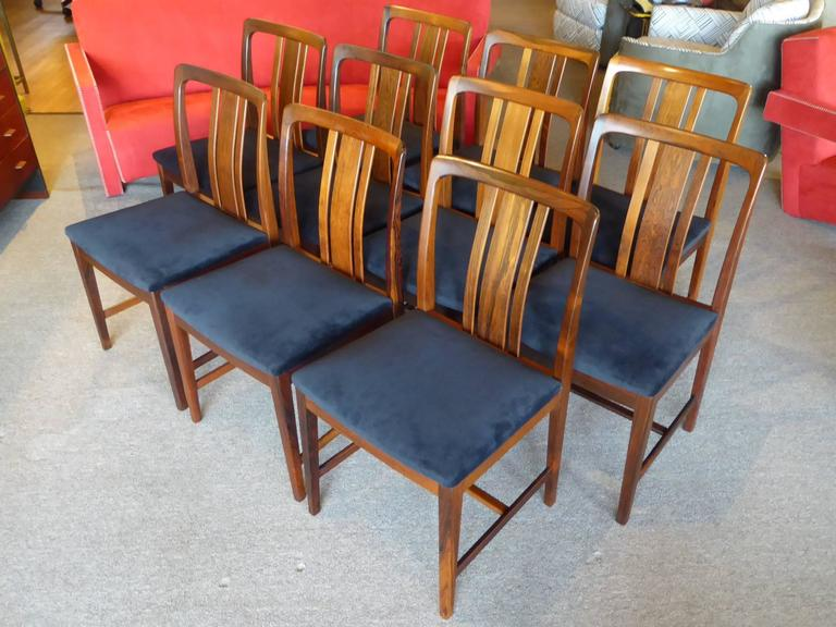 Ten Fine Linde Nilsson Rosewood Modern Dining Chairs, Sweden For Sale at 1stdibs