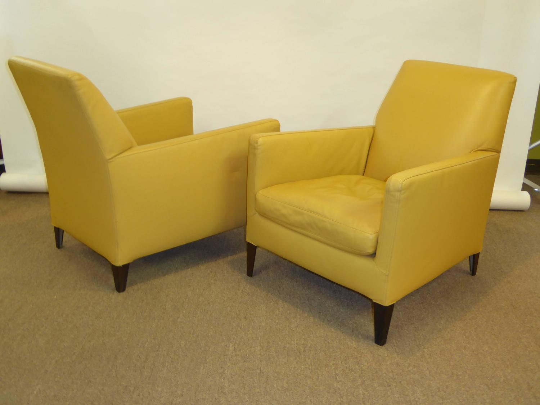 Antonio Citterio Maxalto Leather Lounge Chairs B And B