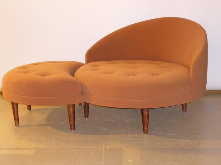 Superb Adrian Pearsall Round Lounge Chair With Fitted