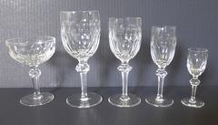 Vintage Waterford Crystal Curraghmore Stemware Service for Eight