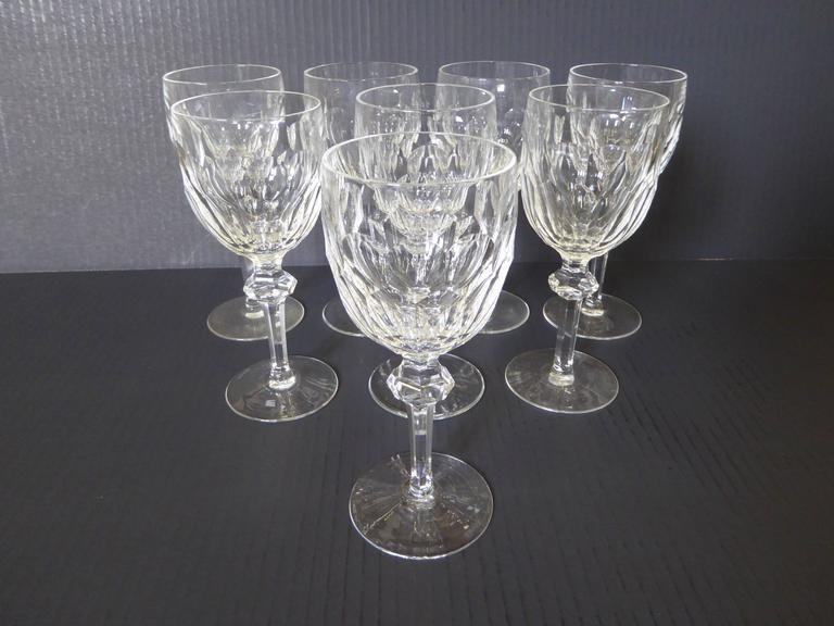 waterford crystal lismore essence white wine glasses john rocha red claret vintage stemware service eight
