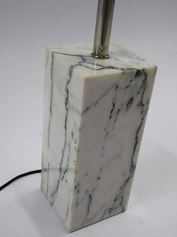 Mid-Century Modern 1970s Sonneman Marble Plinth Table Lamp for Kovacs For Sale