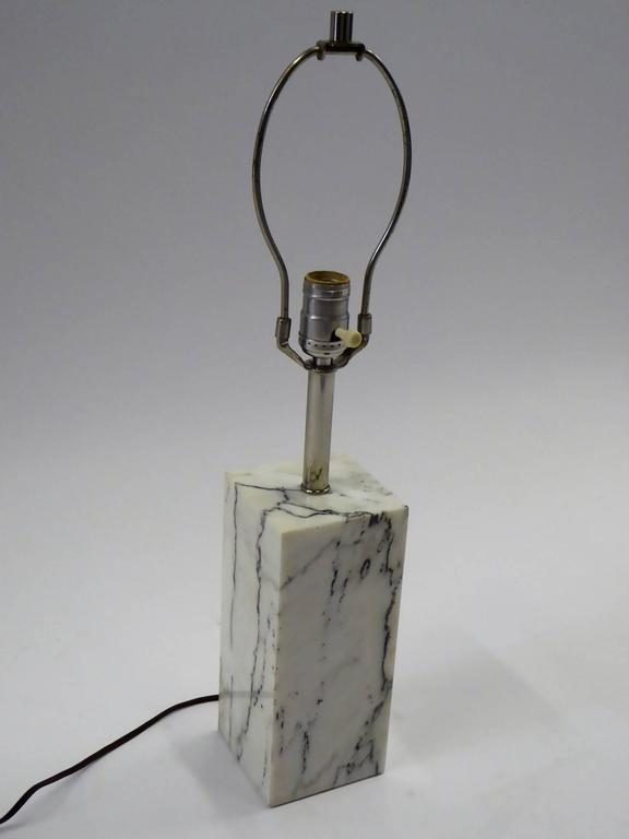 American 1970s Sonneman Marble Plinth Table Lamp for Kovacs For Sale