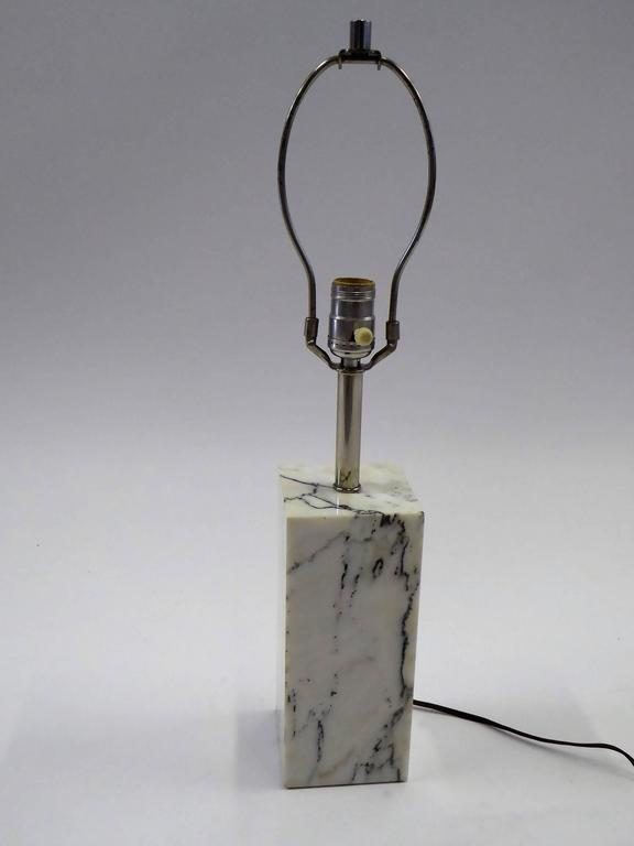 1970s Sonneman Marble Plinth Table Lamp for Kovacs In Excellent Condition For Sale In Miami, FL