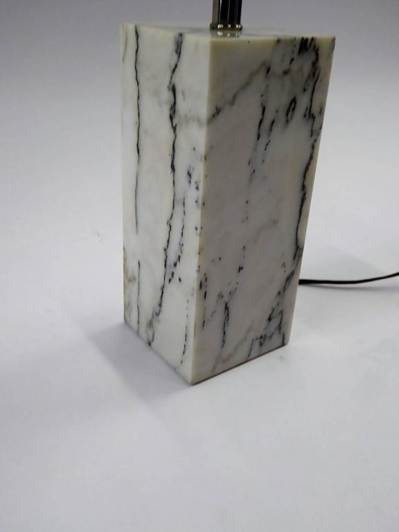 1970s Sonneman Marble Plinth Table Lamp for Kovacs For Sale 1