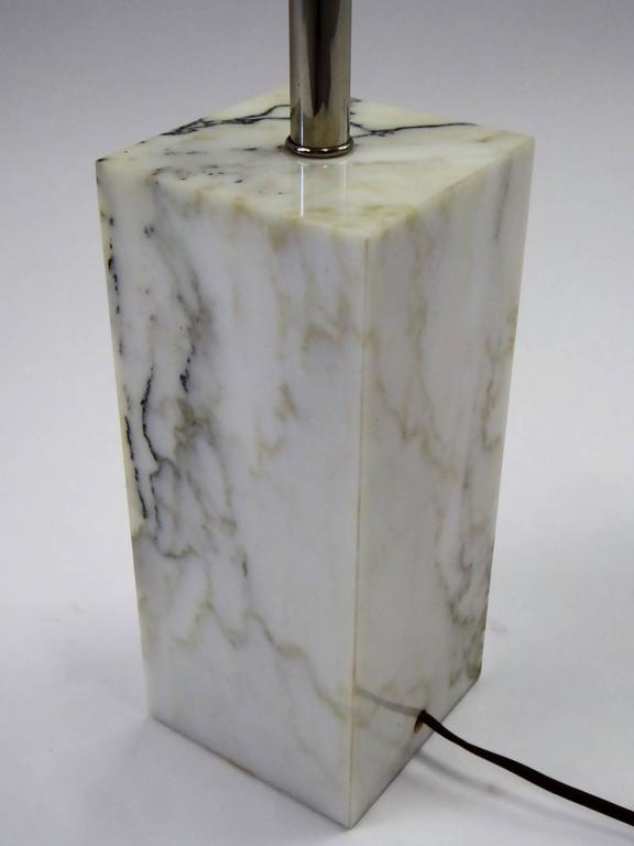 1970s Sonneman Marble Plinth Table Lamp for Kovacs For Sale 3