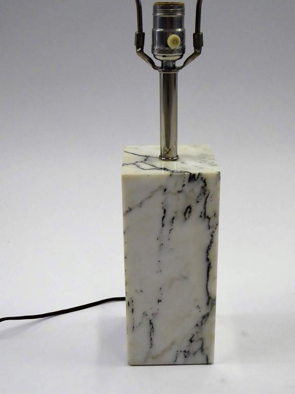 1970s Sonneman Marble Plinth Table Lamp for Kovacs For Sale 4