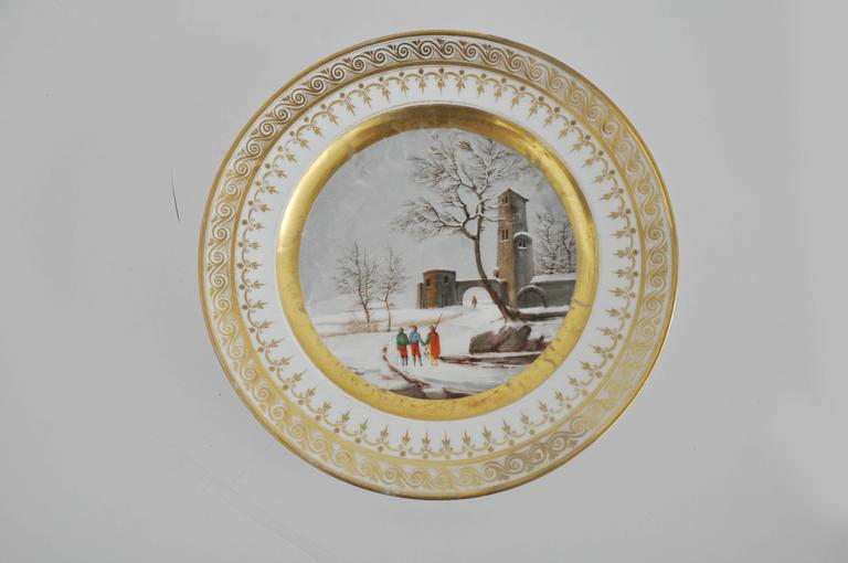 Pair of Old Paris French Plates 4