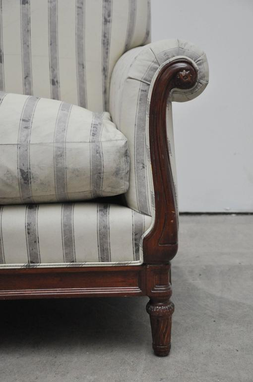 Early 20th Century English Tight Back Sofa For Sale