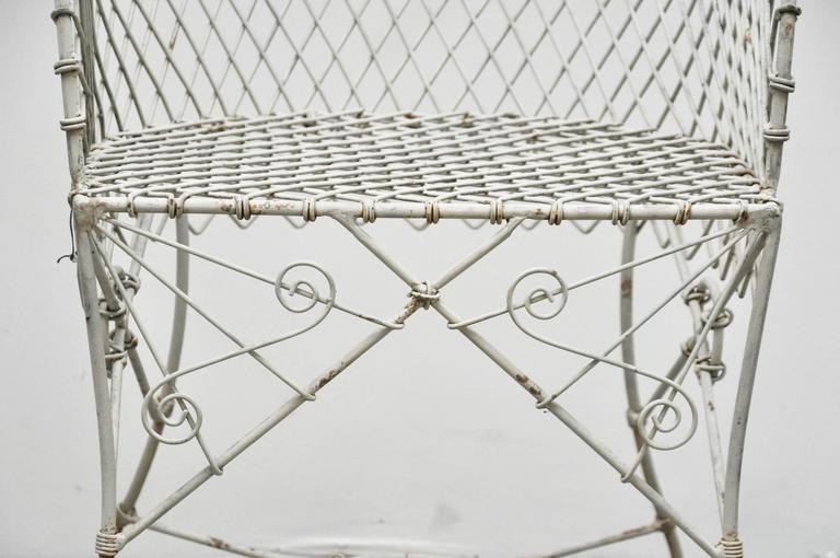 Pair of Wire Chairs For Sale 1