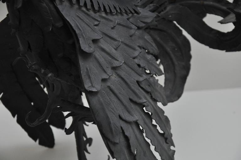 Pair of Black Metal Roosters 7