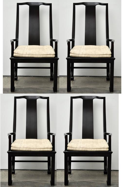 Two Pairs Of Asian Style Armchairs By Chicago Based High End Furniture  Company Interior Crafts,