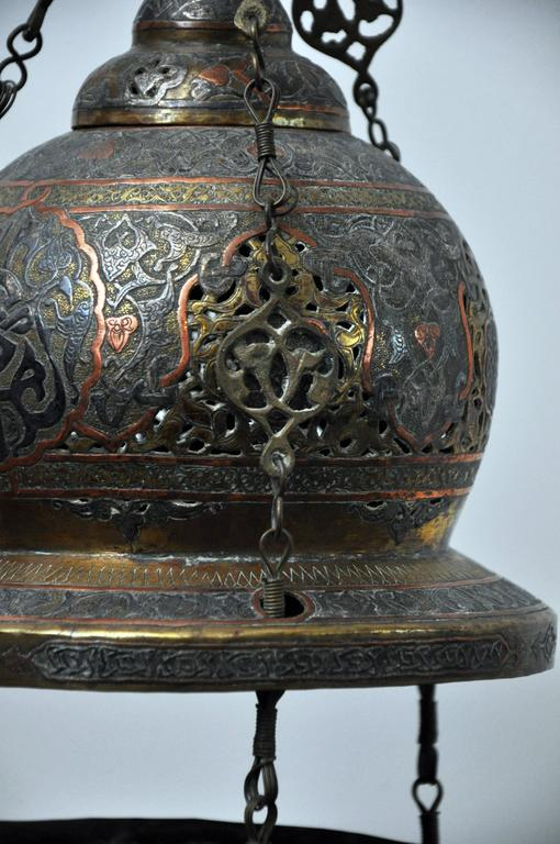 Moorish Antique Moroccan Oil Lantern For Sale