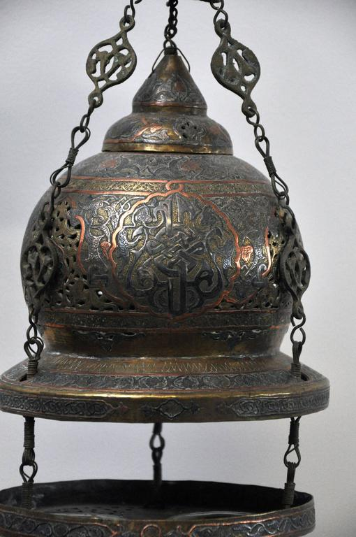 Late 19th Century Antique Moroccan Oil Lantern For Sale