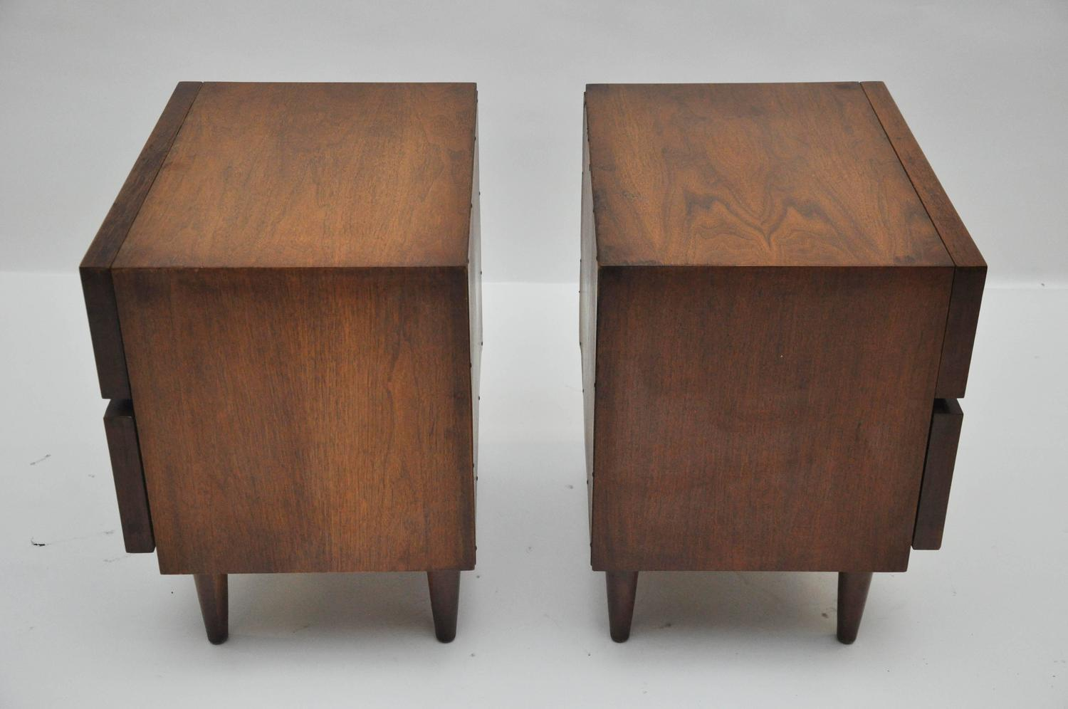 Mid century modern american of martinsville nightstands for Modern nightstands for sale