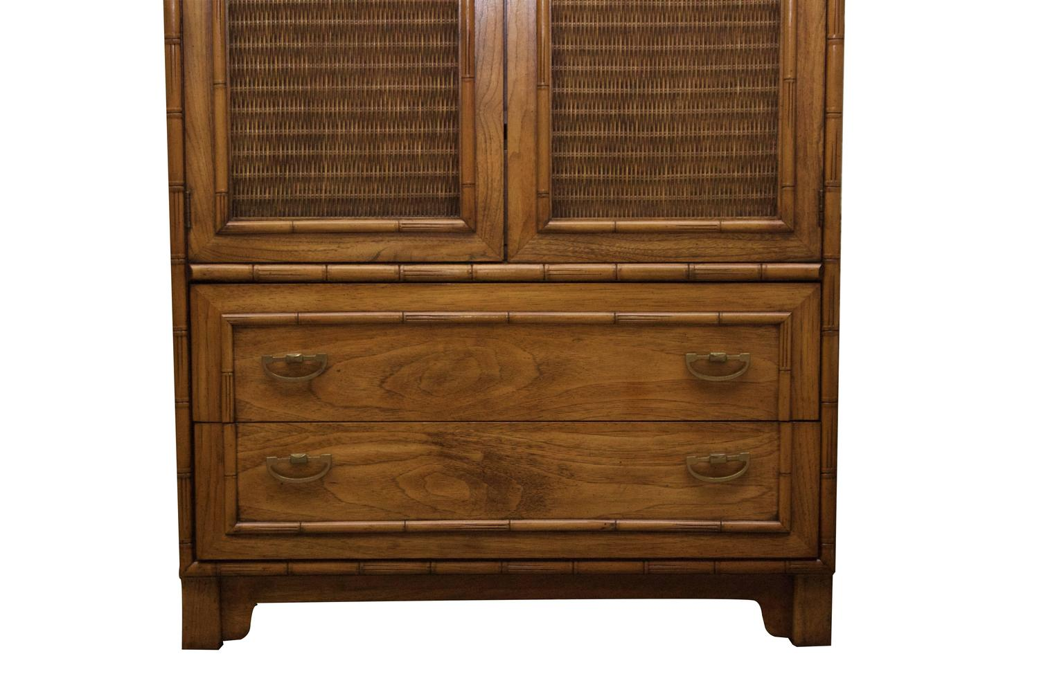 Lane Furniture Armoire Faux Bamboo Armoire By Lane Furniture For Sale At 1stdibs