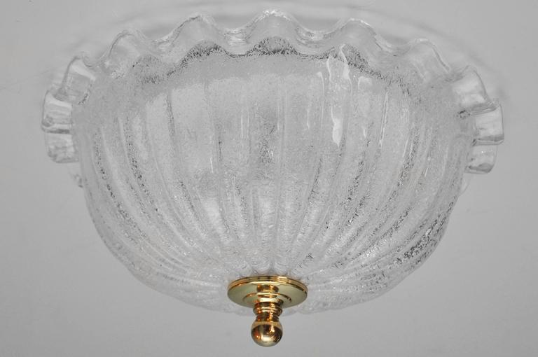 clear murano glass ceiling fixture at 1stdibs. Black Bedroom Furniture Sets. Home Design Ideas