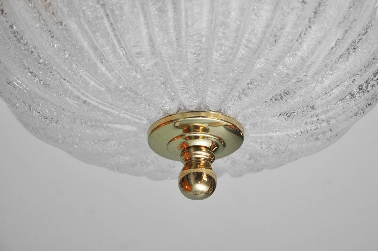 clear murano glass ceiling fixture for sale at 1stdibs. Black Bedroom Furniture Sets. Home Design Ideas