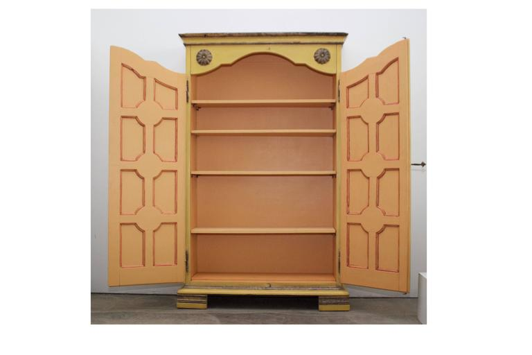 Yellow Armoire From Marshall Fields At 1stdibs