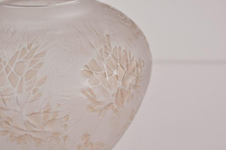 French Lalique Esterel Vase For Sale
