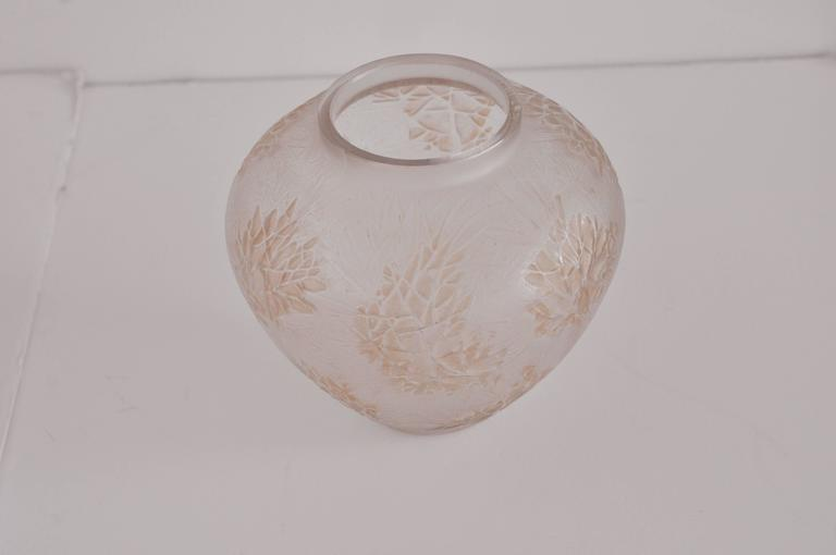 Late 20th Century Lalique Esterel Vase For Sale