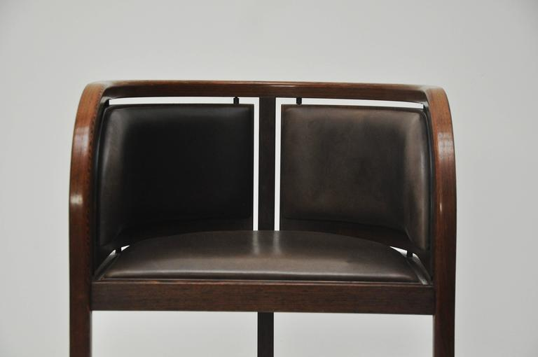 Lignum Vitae And Leather Chair At 1stdibs