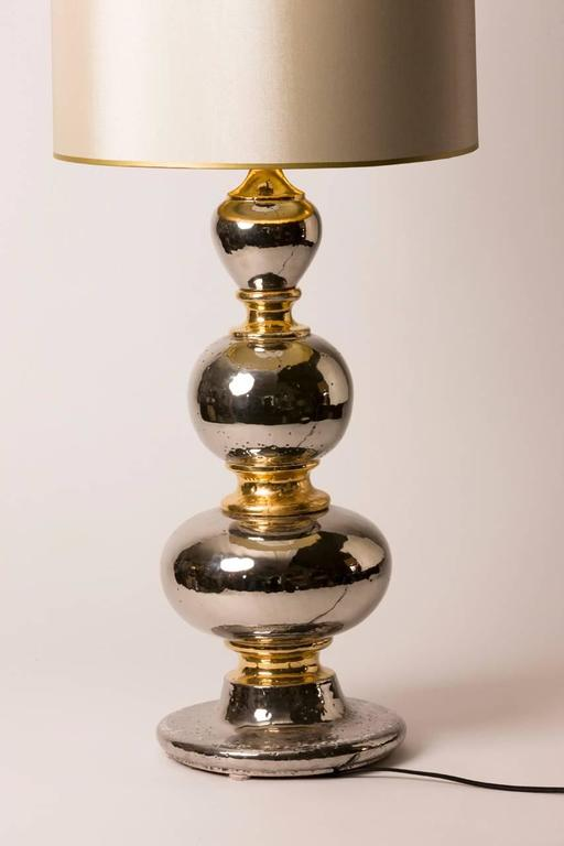 Pair of French Deco Glazed Ceramic Table Lamps with Custom Shades 2