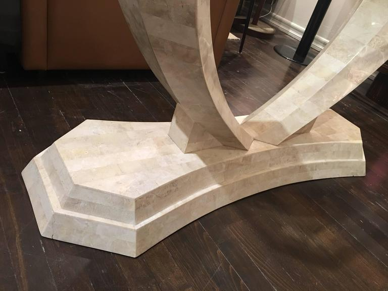 Tessellated Stone Console Table by Robert Marcius For Sale 1