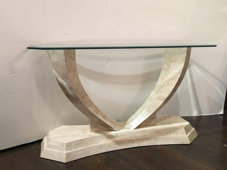 Philippine Tessellated Stone Console Table by Robert Marcius For Sale