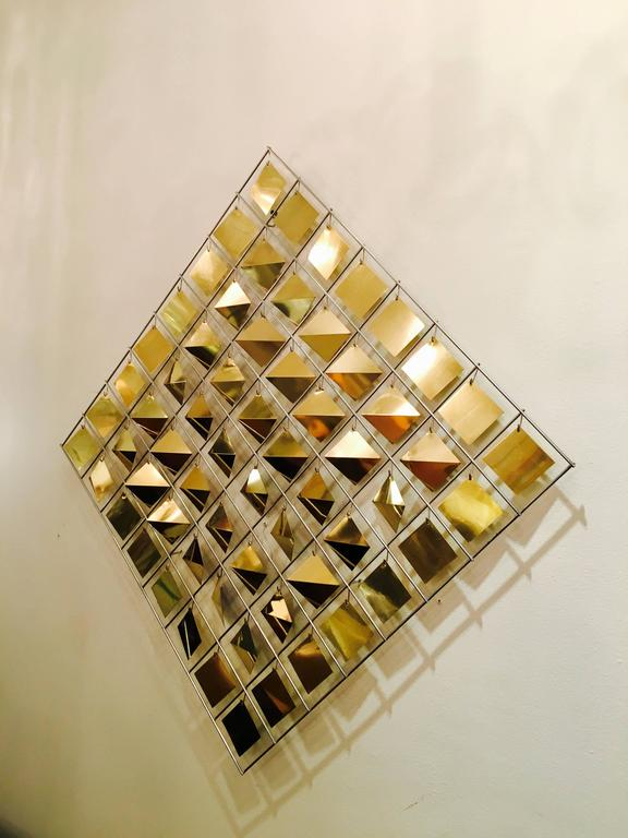 Mid-Century Modern Kinetic Wall Sculpture by Curtis Jere For Sale