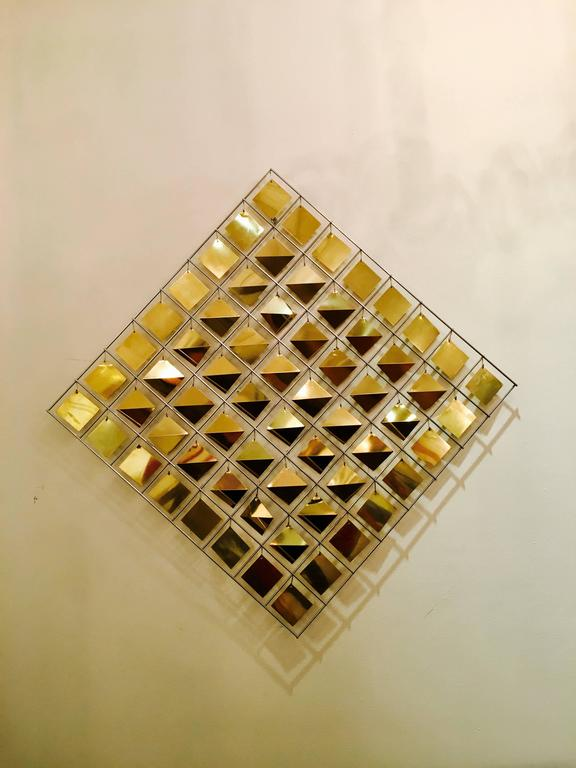 American Kinetic Wall Sculpture by Curtis Jere For Sale
