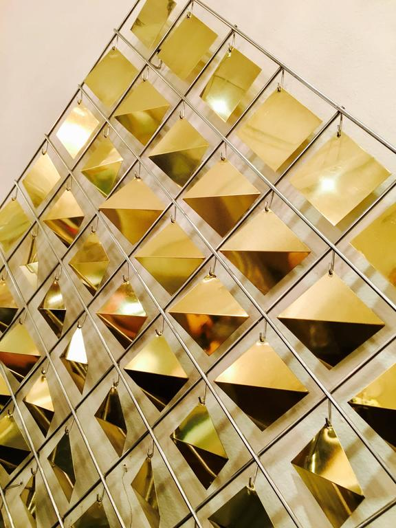 Kinetic Wall Sculpture by Curtis Jere In Good Condition For Sale In New York, NY