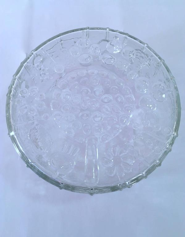 Large Art Glass Bowl by Oiva Toikka for Iittala, Finland For Sale 1