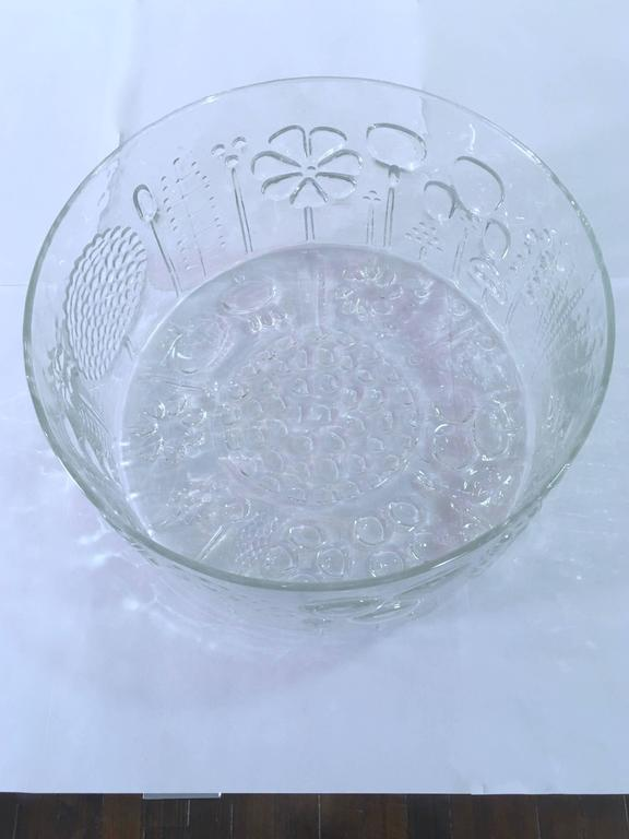 20th Century Large Art Glass Bowl by Oiva Toikka for Iittala, Finland For Sale