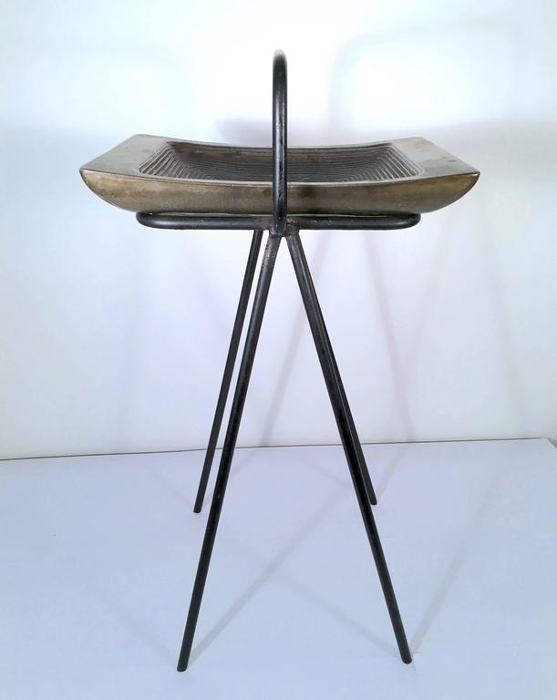 Mid-Century Modern Smoking Stand and Ashtray by Ben Siebel For Sale