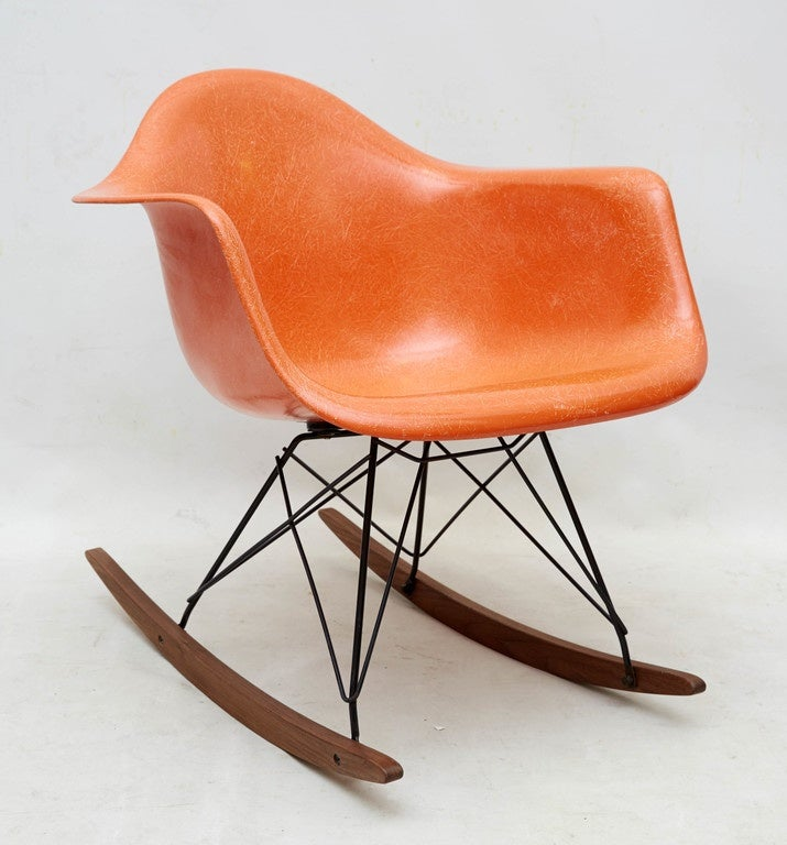 early charles eames rocking chair for herman miller at 1stdibs