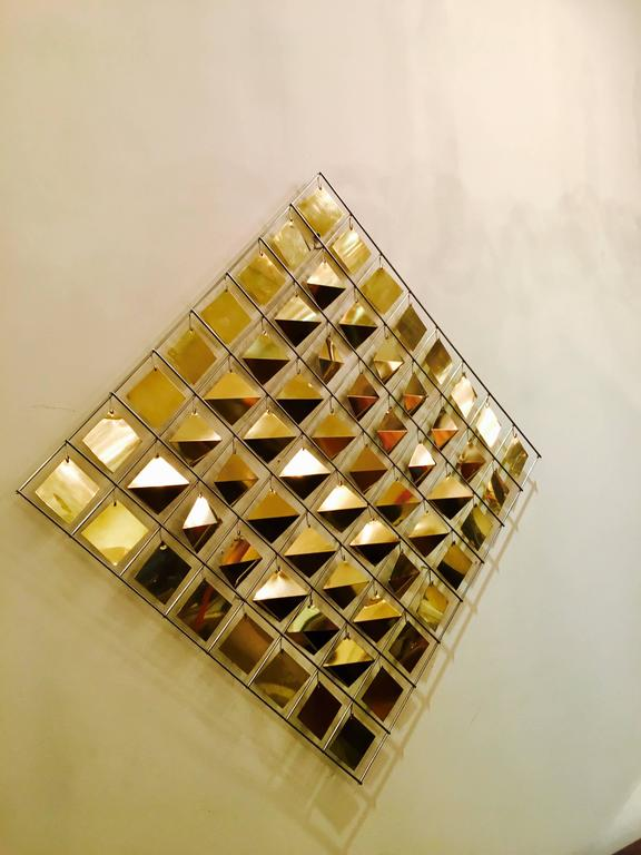 20th Century Kinetic Wall Sculpture by Curtis Jere For Sale
