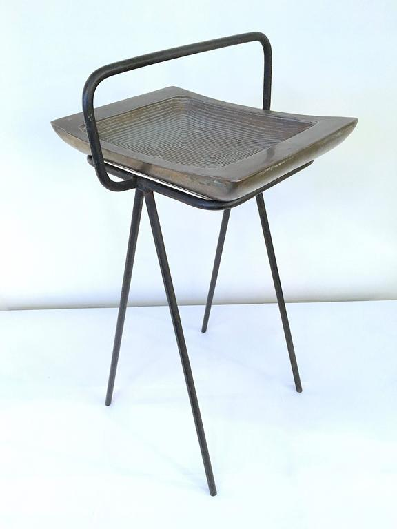Smoking Stand and Ashtray by Ben Siebel In Good Condition For Sale In New York, NY