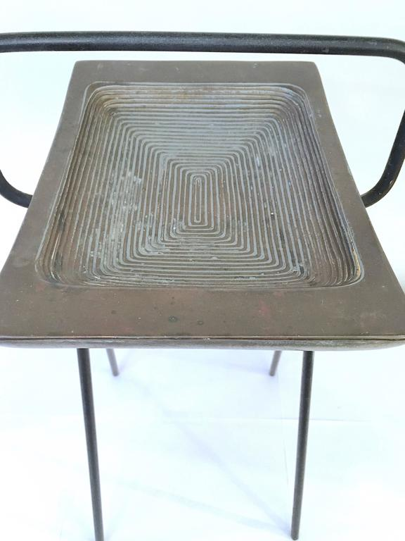 20th Century Smoking Stand and Ashtray by Ben Siebel For Sale