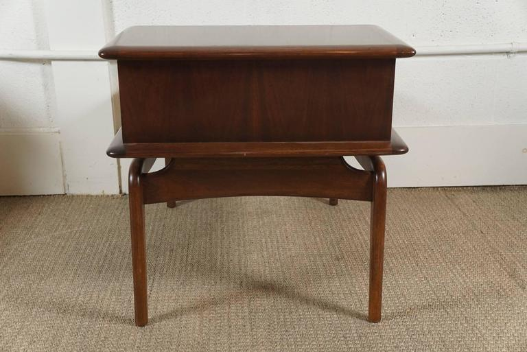 Mid-20th Century Pair of Walnut Stepped Tables For Sale