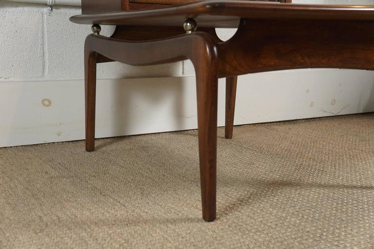 Pair of Walnut Stepped Tables For Sale 2