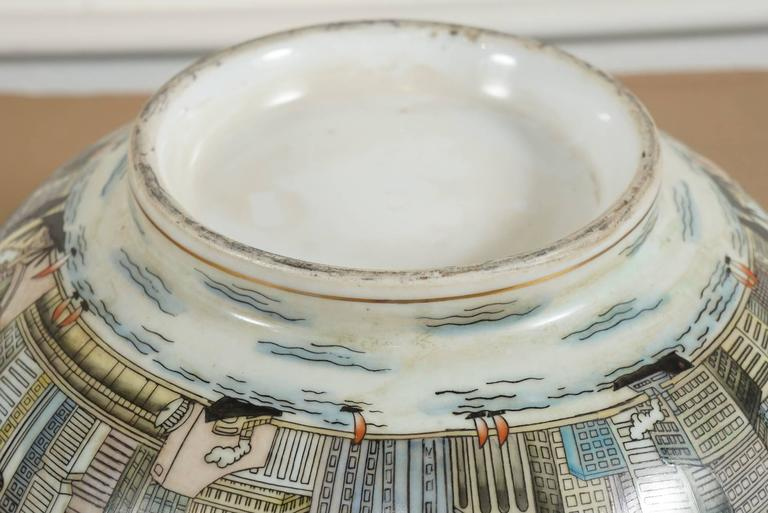 Cityscape Full Surround Porcelain Bowl For Sale 1