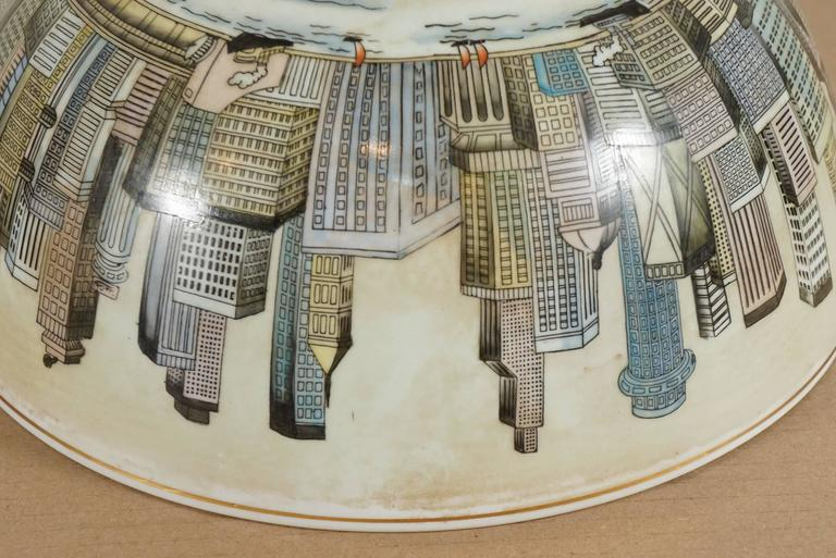 Cityscape Full Surround Porcelain Bowl For Sale 2