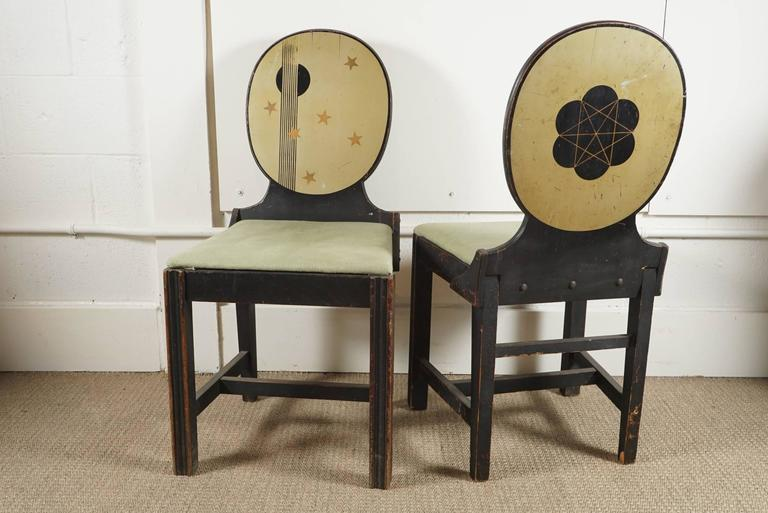 Pair of Painted Side Chairs 2