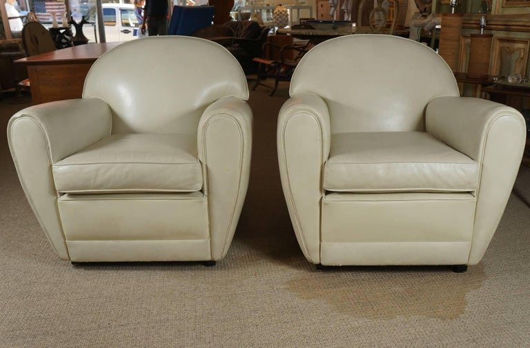Pair of Leather Club Chairs 2