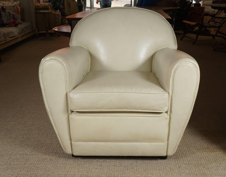 Pair of Leather Club Chairs 3